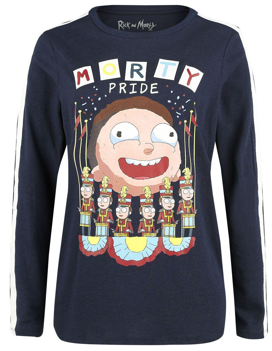 Image of   Rick And Morty Morty Pride Girlie sweatshirt mørk blå