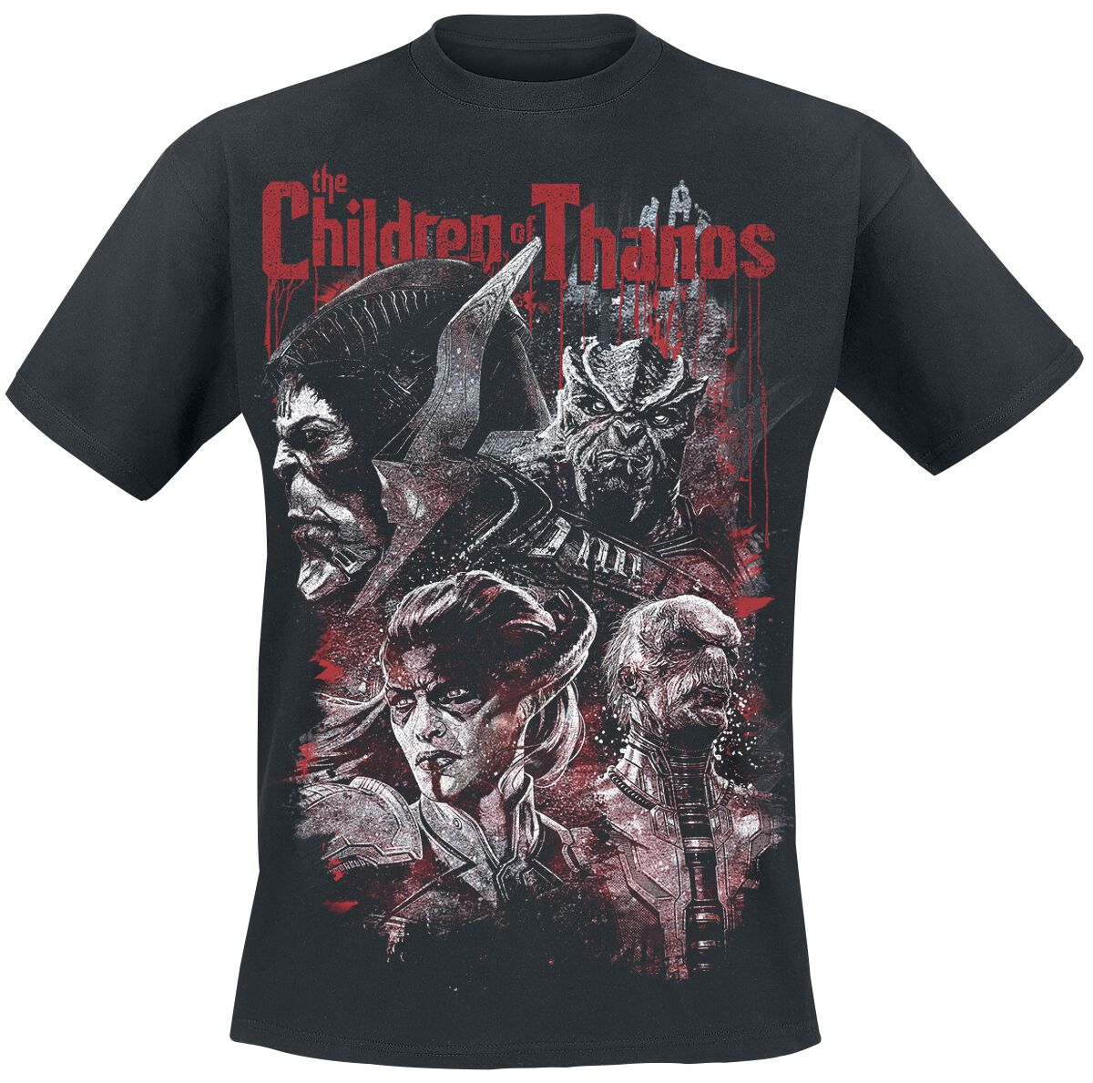 Image of   Avengers Infinity War - Children In Blood T-Shirt sort