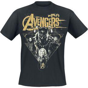 Avengers Infinity War - Golden Splatter T-shirt noir