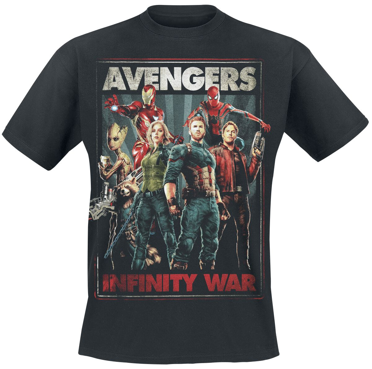 Image of   Avengers Infinity War T-Shirt sort