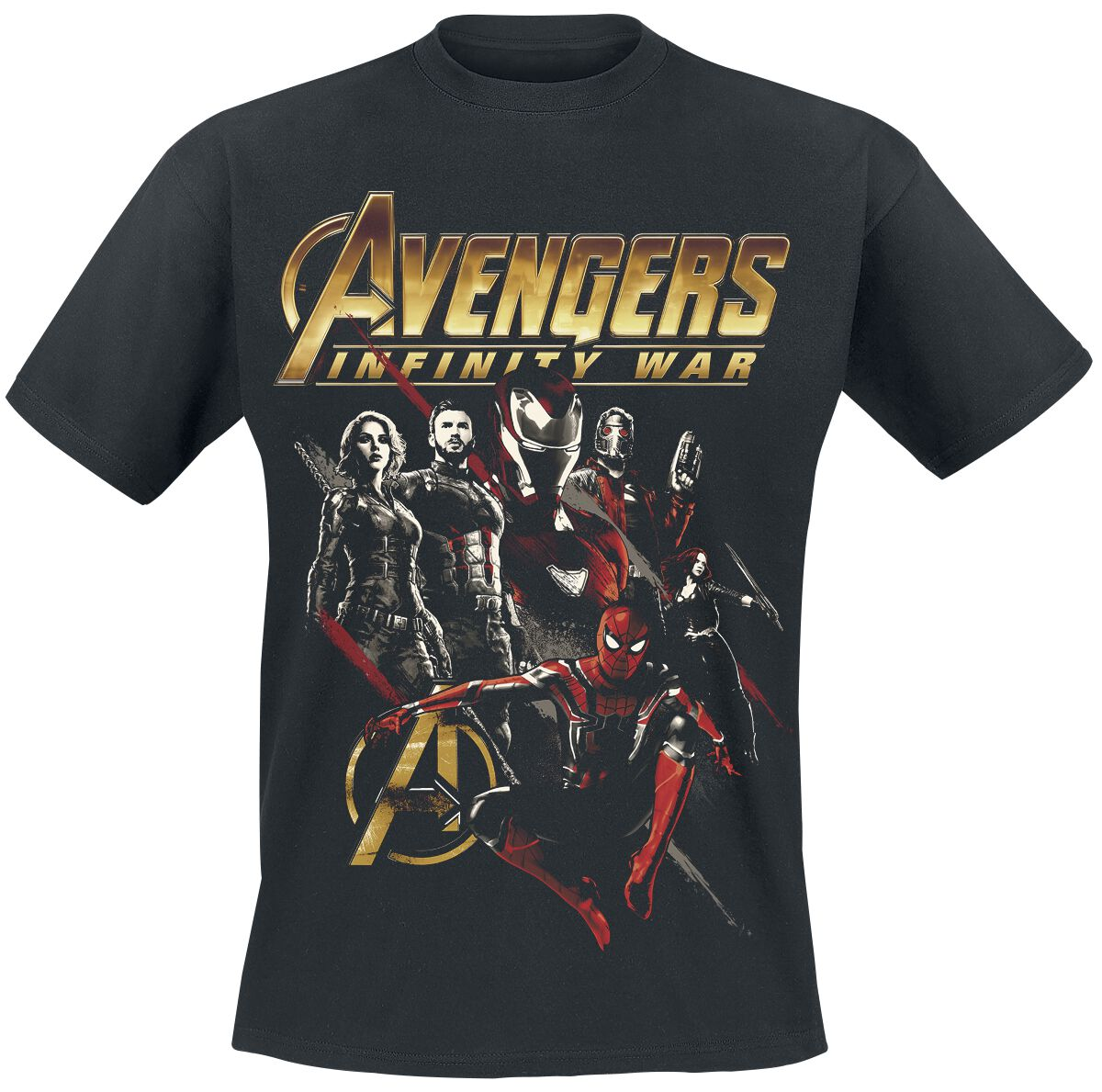 Image of   Avengers Infinity War - Red Squad T-Shirt sort