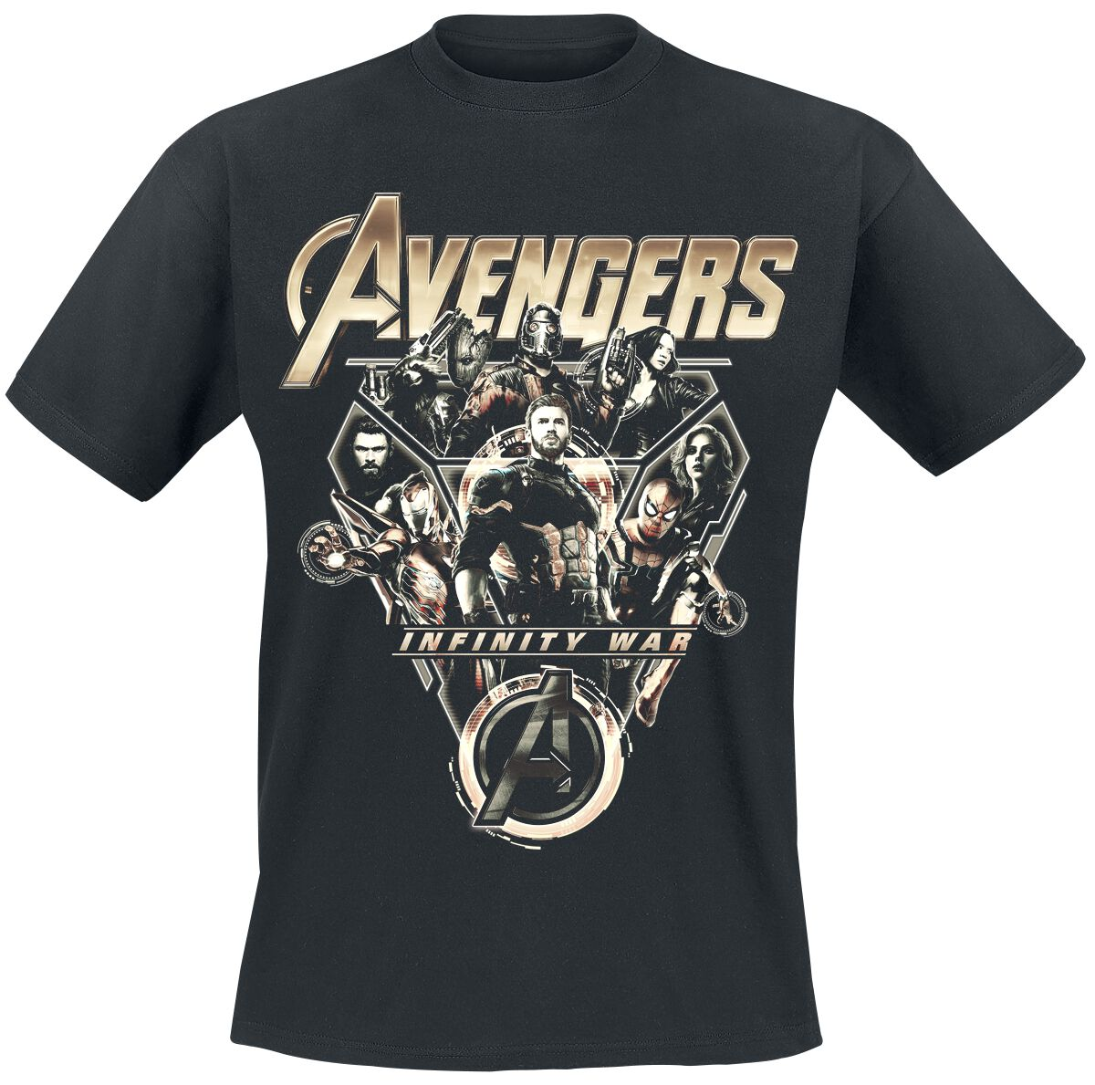 Image of   Avengers Infinity War - Tech Ensemble T-Shirt sort
