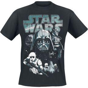 Star Wars Épisode 6 - Le Retour Des Jedi - Personnages Du Côté Obscur T-shirt noir