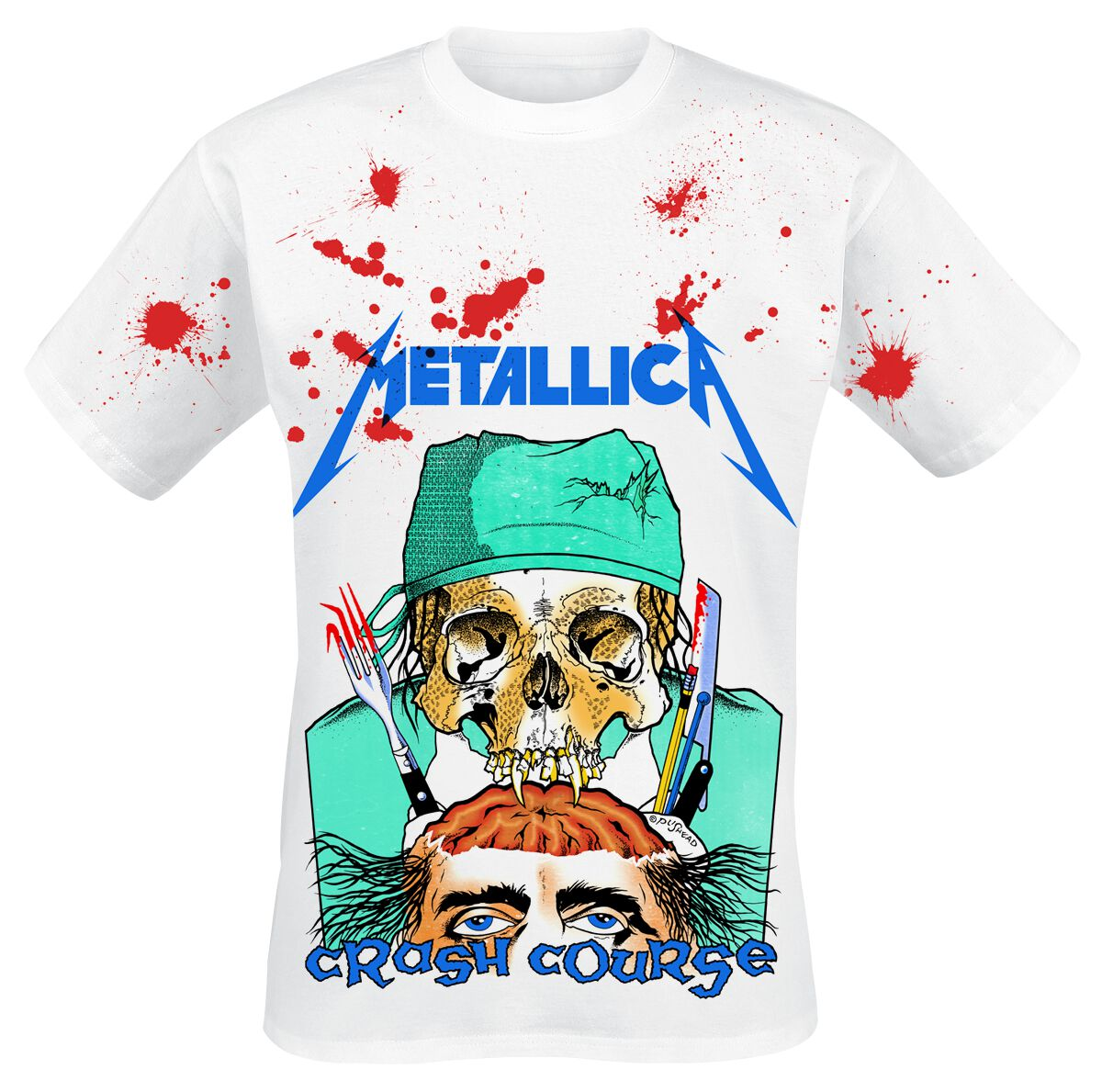Image of   Metallica Crash Course - Jumbo T-Shirt hvid