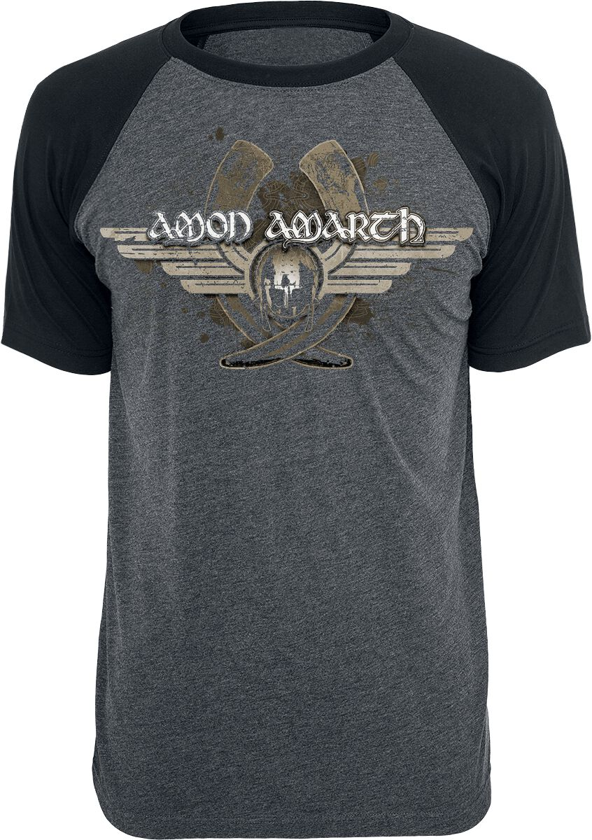 Image of   Amon Amarth Horns T-Shirt koks-sort