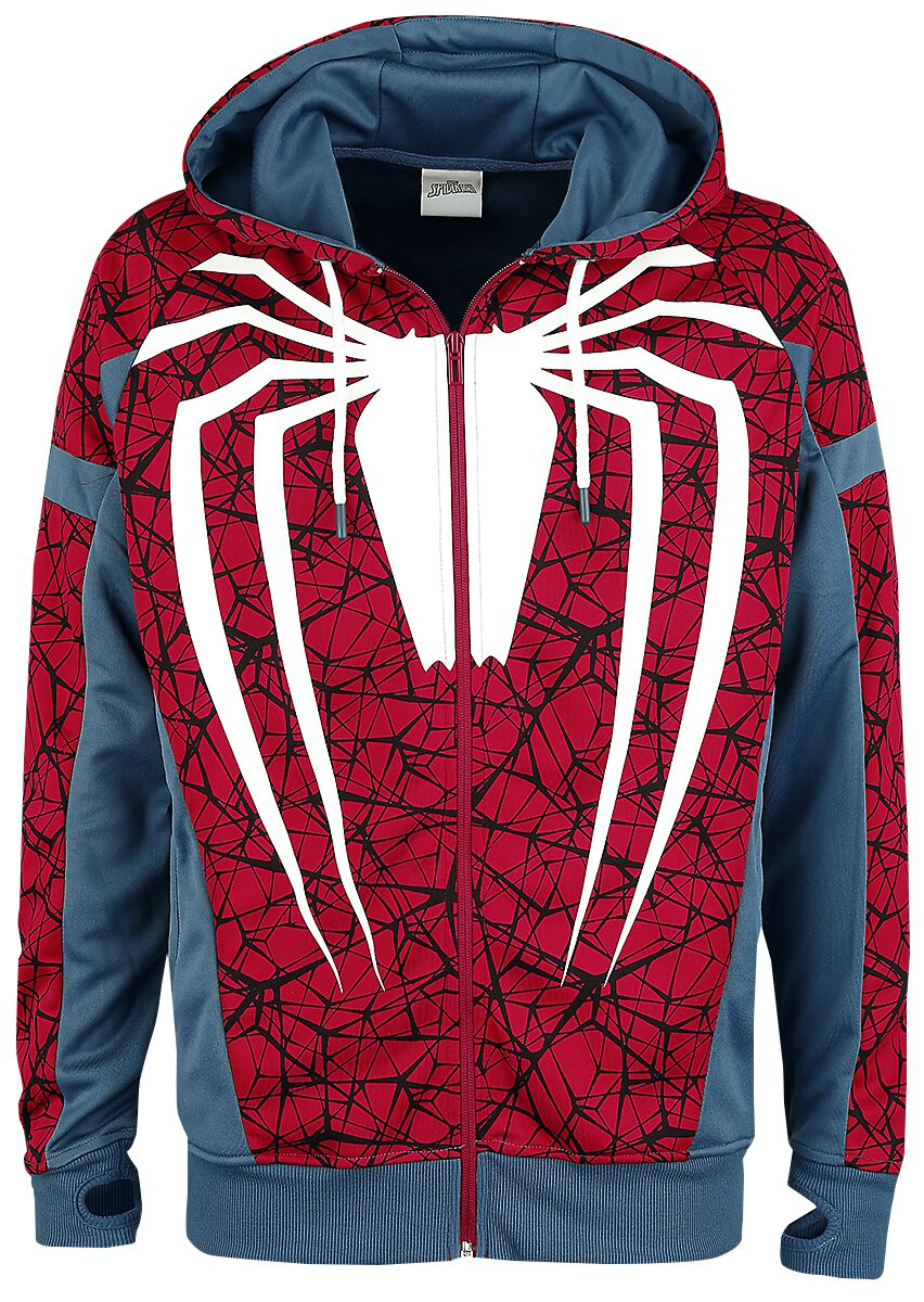 Image of   Spiderman Cosplay Træningsjakke multifarvet
