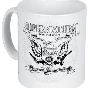 Supernatural Emblème Mug blanc