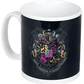 Harry Potter Armories De Poudlard (Fluorescent) Mug blanc