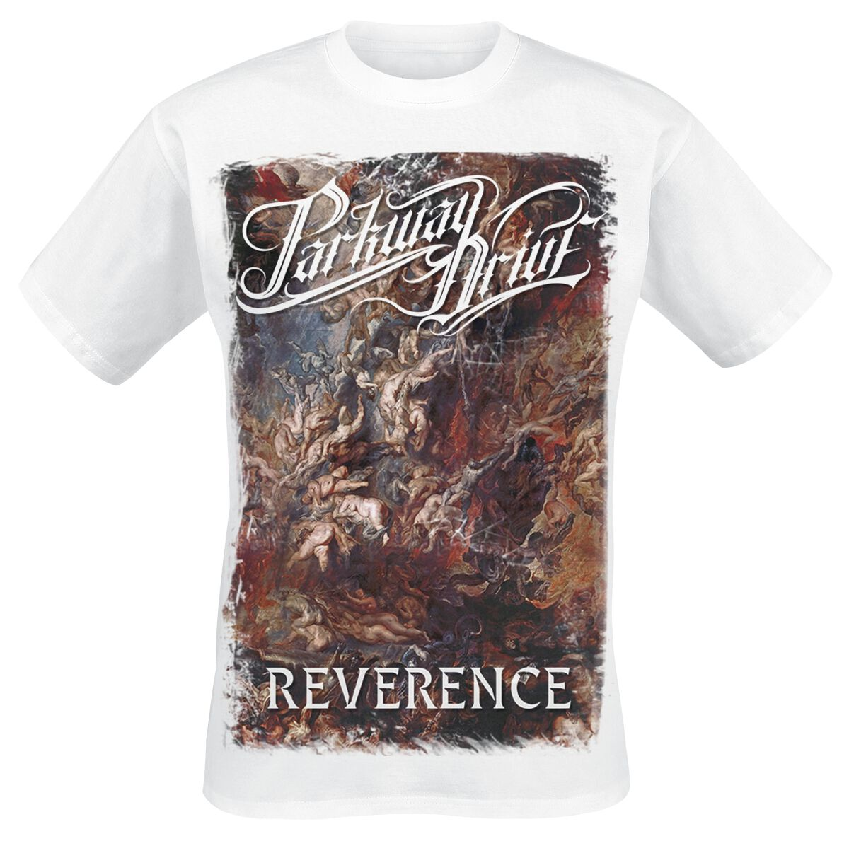Image of   Parkway Drive Reverence - Cover - White T-Shirt hvid