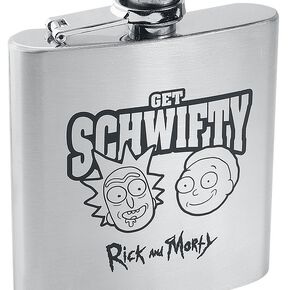 Rick & Morty Get Schwifty - Flasque Bouteille chrome