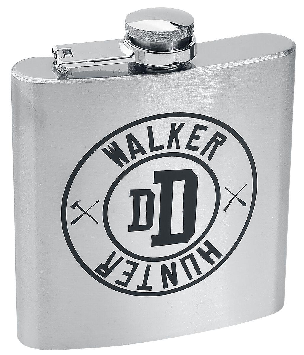 Image of   The Walking Dead Walker Hunter - lommelærke Drikkeflaske krom