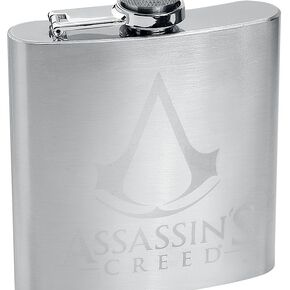 Assassin's Creed Logo - Flachmann Bouteille chrome