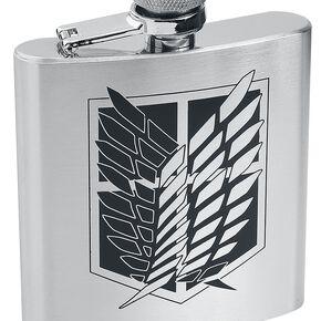 L'Attaque Des Titans Scout - Flasque Bouteille chrome