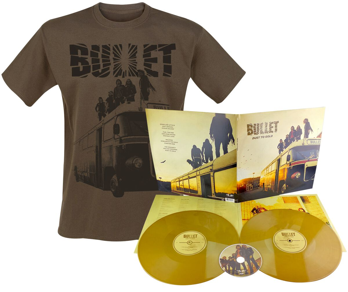 Image of   Bullet Dust to gold 2-LP & CD & T-shirt guld