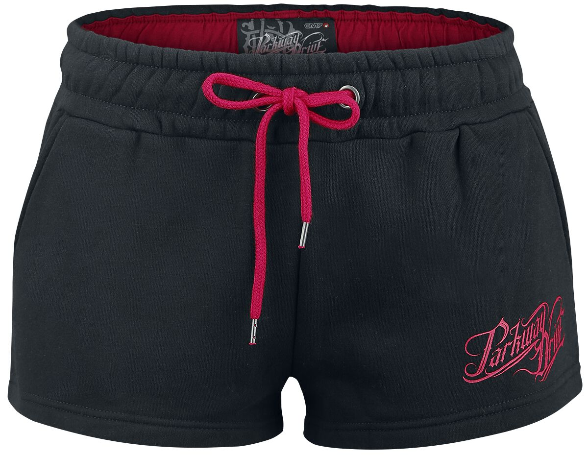 Image of   Parkway Drive EMP Signature Collection Girlie hotpants sort-rød