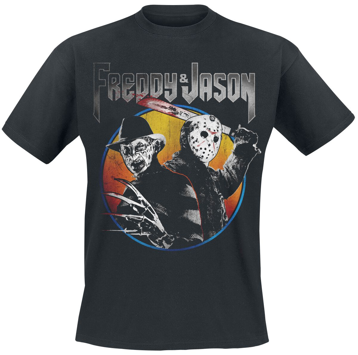 Merch dla Fanów - Koszulki - T-Shirt Freddy vs. Jason Concert T-Shirt czarny - 377535