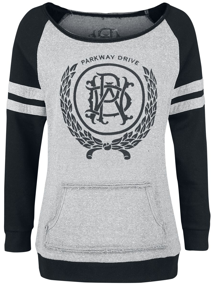 Image of   Parkway Drive EMP Signature Collection Girlie sweatshirt blandet grå-sort