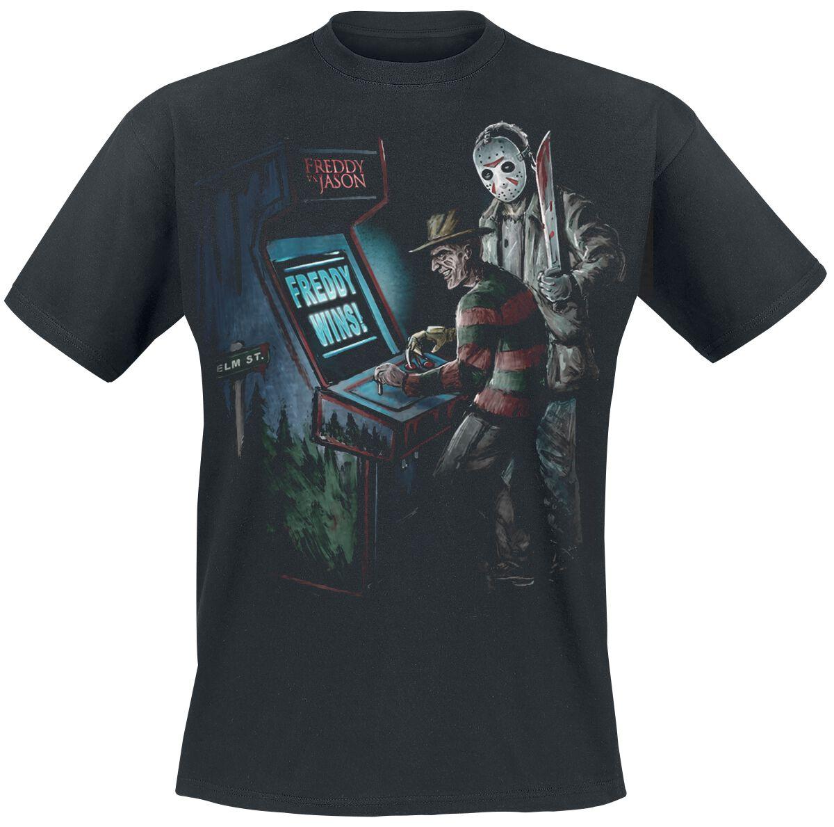 Merch dla Fanów - Koszulki - T-Shirt Freddy vs. Jason Arcade T-Shirt czarny - 377539