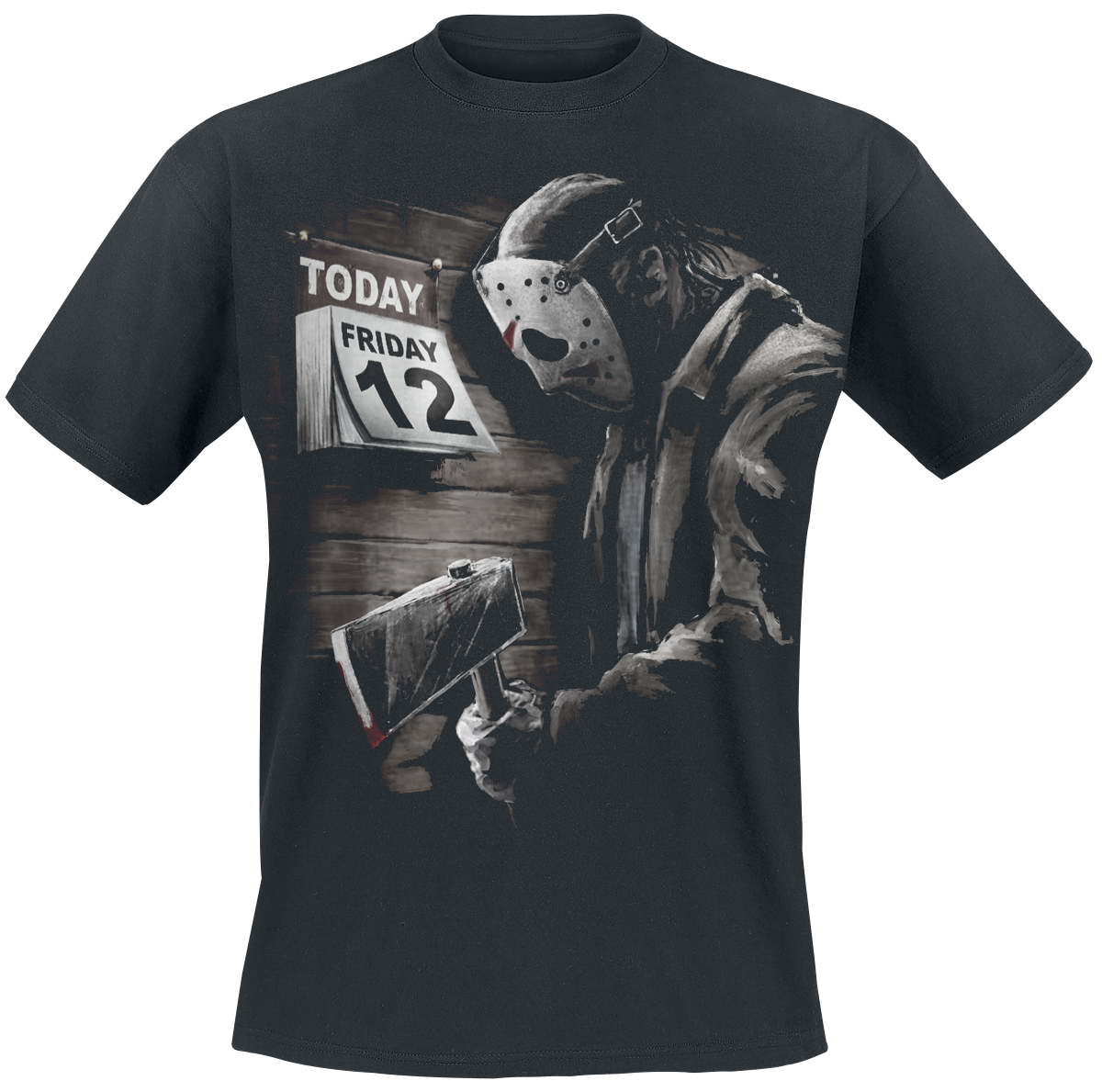 Friday the 13th - Friday 12th Sad - T-Shirt - black