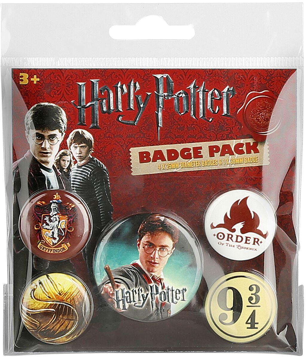 Image of   Harry Potter Gryffindor Badgepakke multifarvet