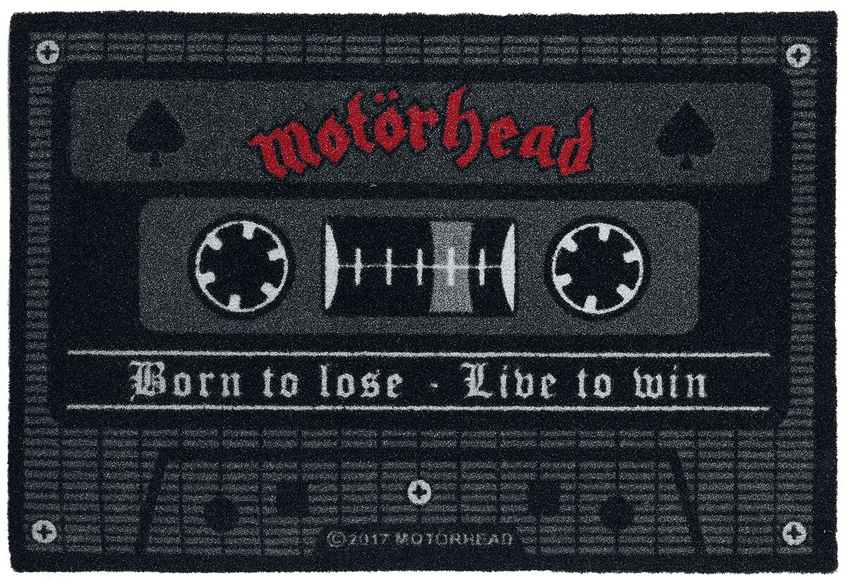 Image of   Motörhead Born To Lose - Live To Win Dørmåtte multifarvet