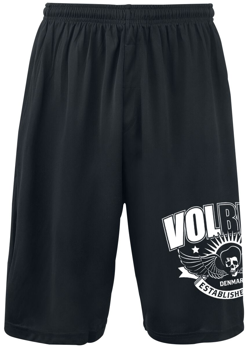Image of   Volbeat Skullwing Ribbon Shorts sort
