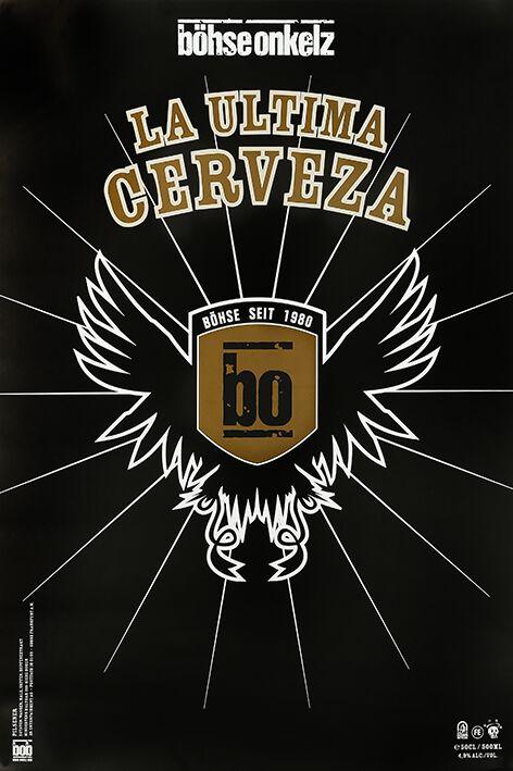 Image of   Böhse Onkelz La Ultima Cerveza Plakat multifarvet