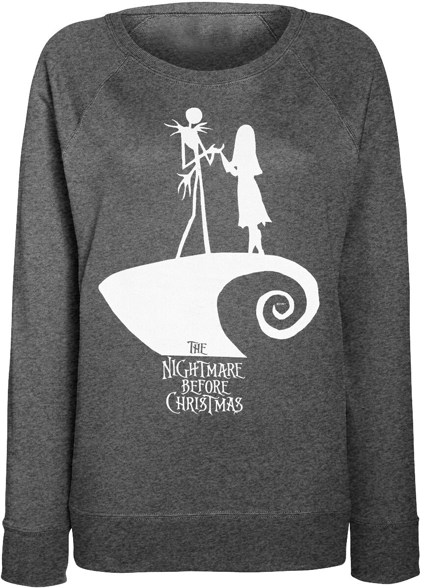 Image of   The Nightmare Before Christmas Jack And Sally Love Girlie sweater grålig