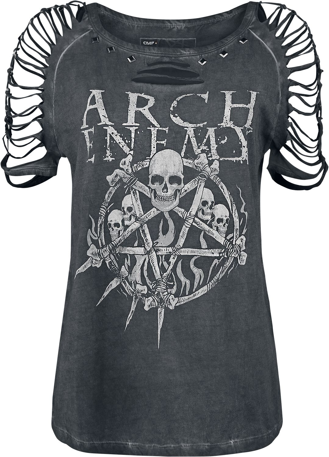 Image of   Arch Enemy EMP Signature Collection Girlie trøje mørk grå