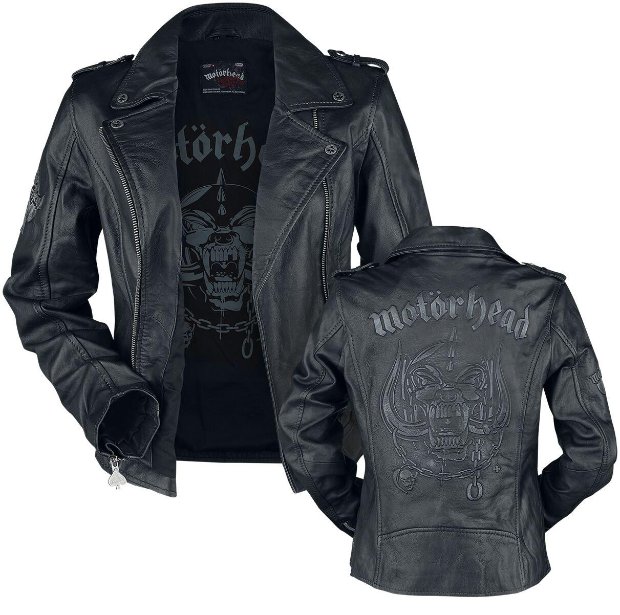 Image of   Motörhead EMP Signature Collection Girlie læderjakke sort