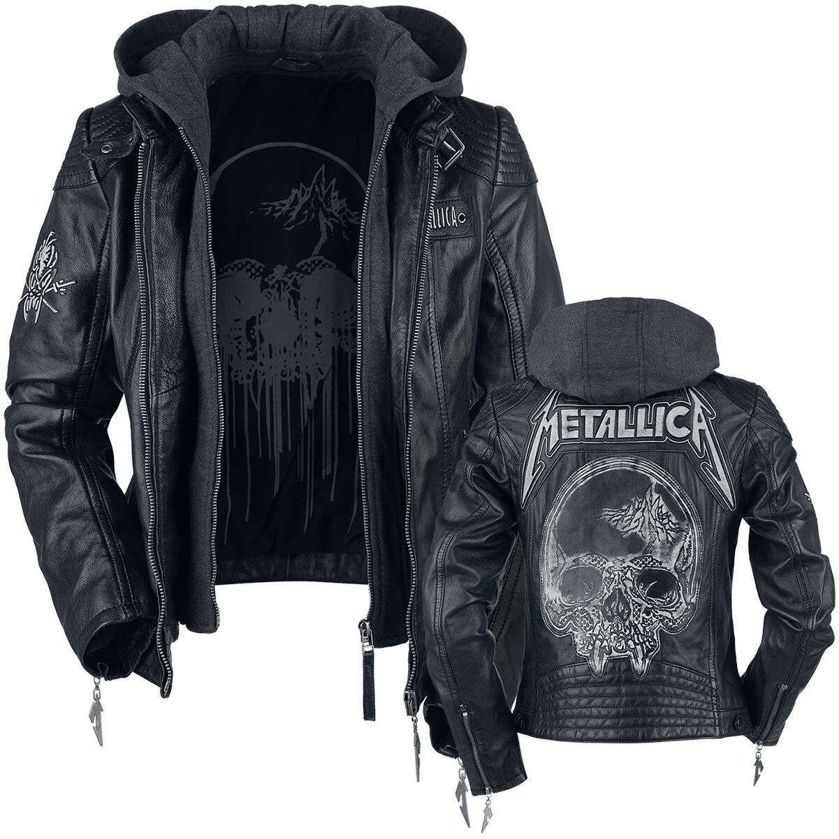 Image of   Metallica EMP Signature Collection Girlie læderjakke sort