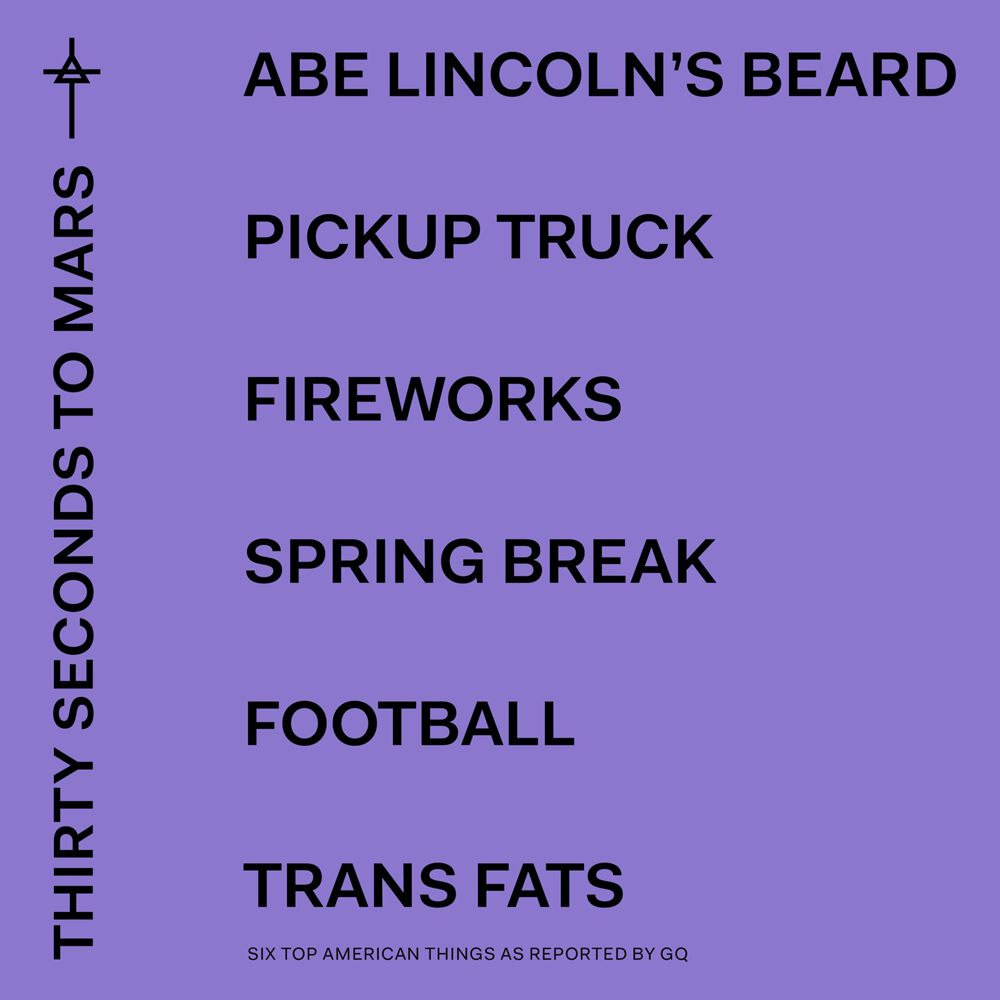 Image of   30 Seconds To Mars America CD standard