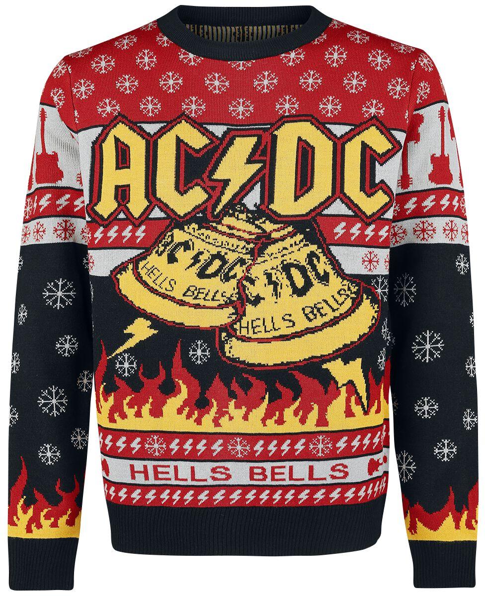 Image of   AC/DC Holiday Sweater 2018 Strikketrøje multifarvet