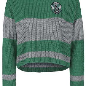 Harry Potter Serpentard Sweat-shirt Femme vert/gris