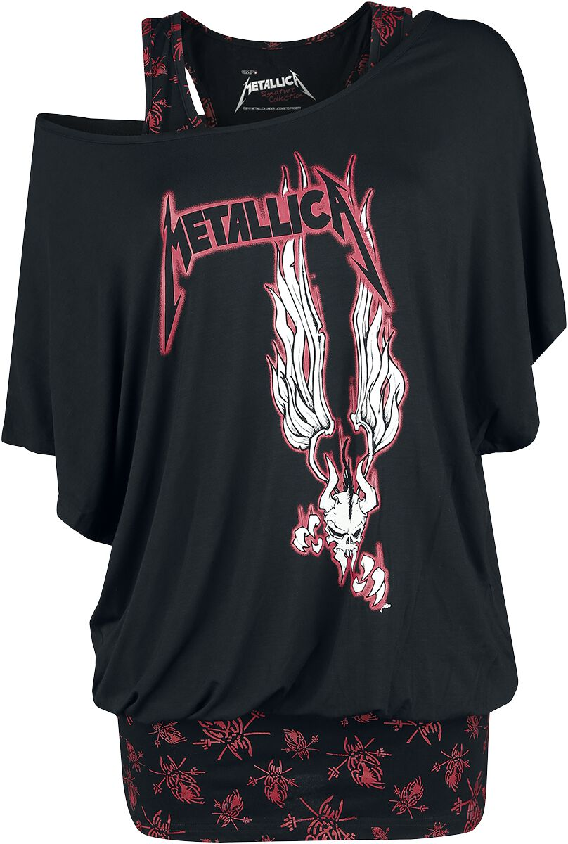 Image of   Metallica EMP Signature Collection Girlie trøje sort-rød