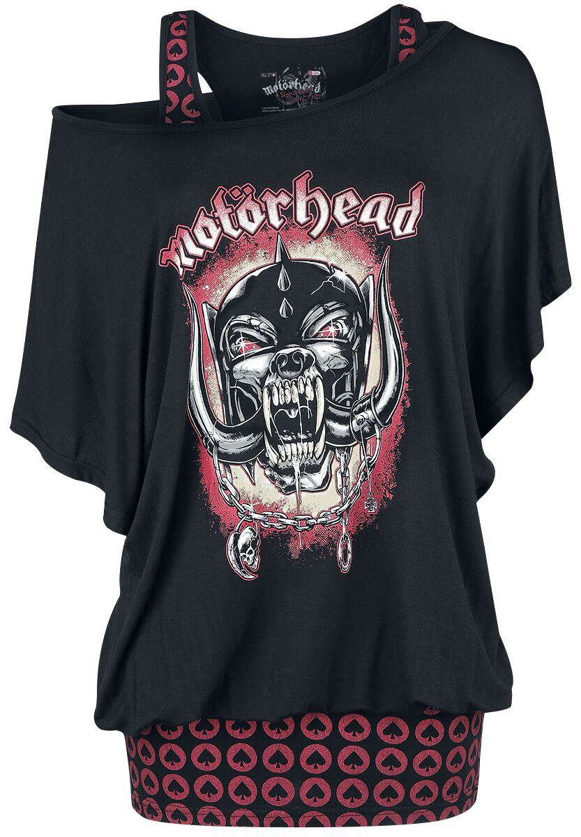 Image of   Motörhead EMP Signature Collection Girlie trøje sort-rød