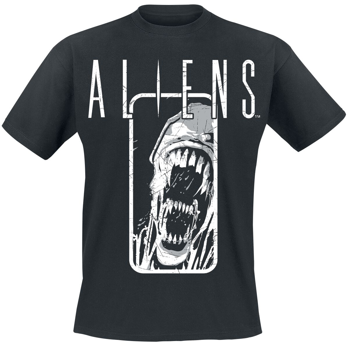 Merch dla Fanów - Koszulki - T-Shirt Alien Aliens - Distressed T-Shirt czarny - 378000