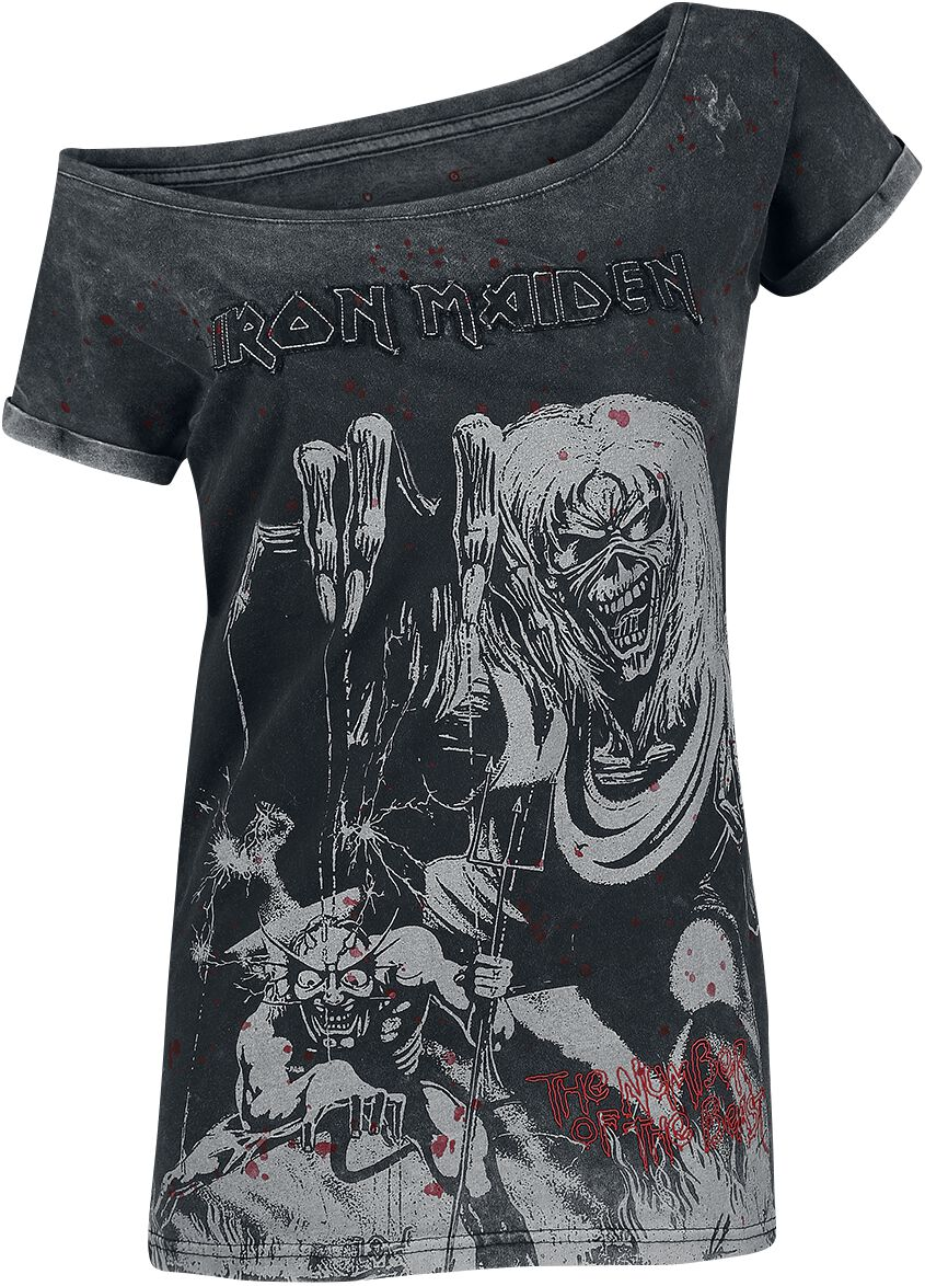 Image of   Iron Maiden EMP Signature Collection Girlie trøje mørk grå