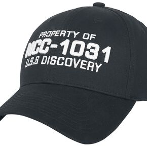 Star Trek Discovery - Property of NCC-1031 Casquette Baseball noir