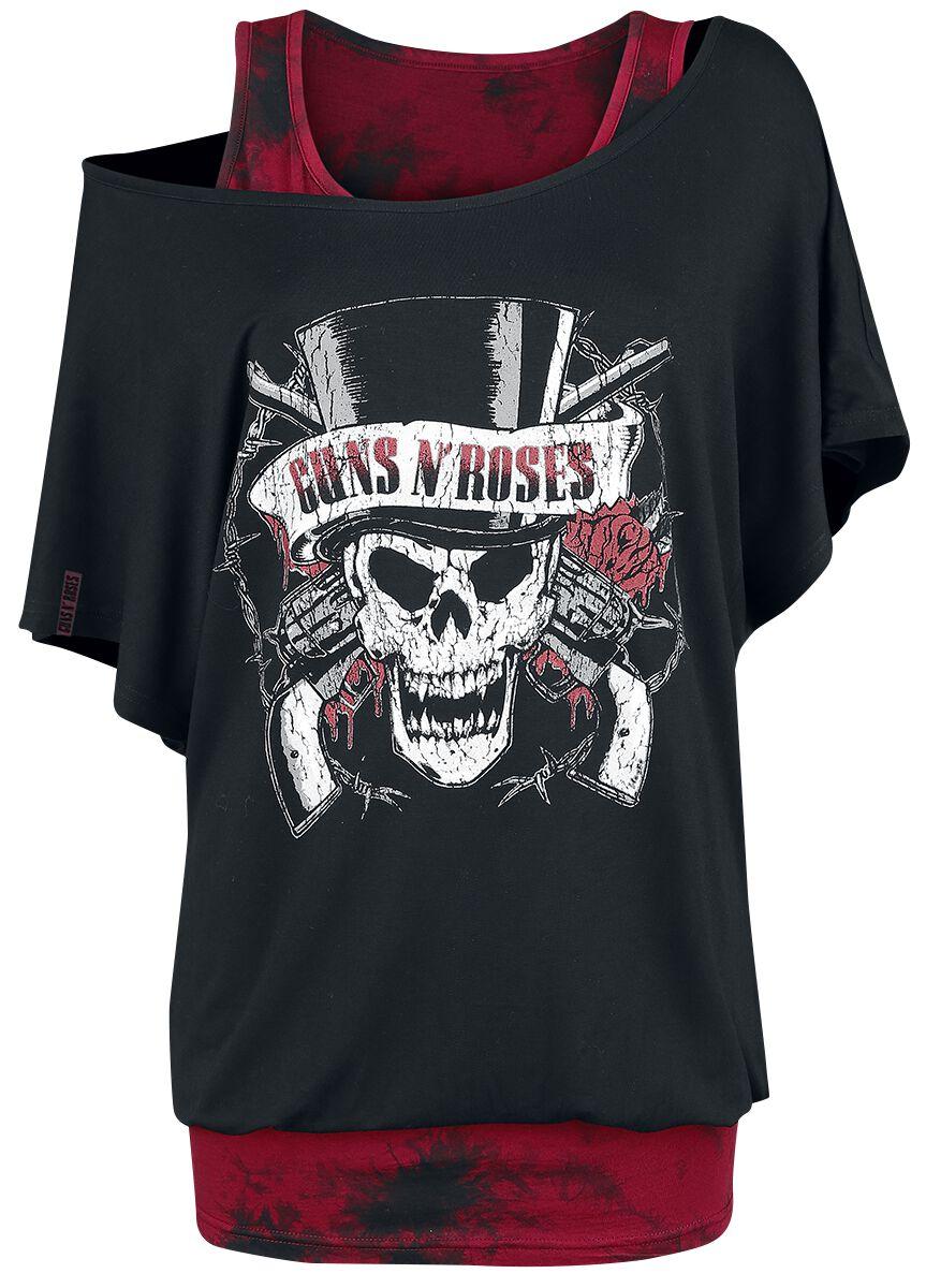 Image of   Guns N' Roses EMP Signature Collection Girlie trøje sort-rød