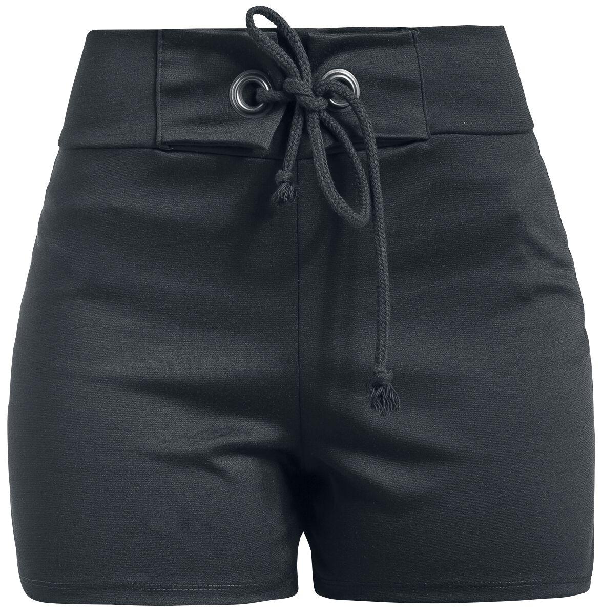 Image of   Outer Vision Cloe High Waist Short Girlie shorts sort