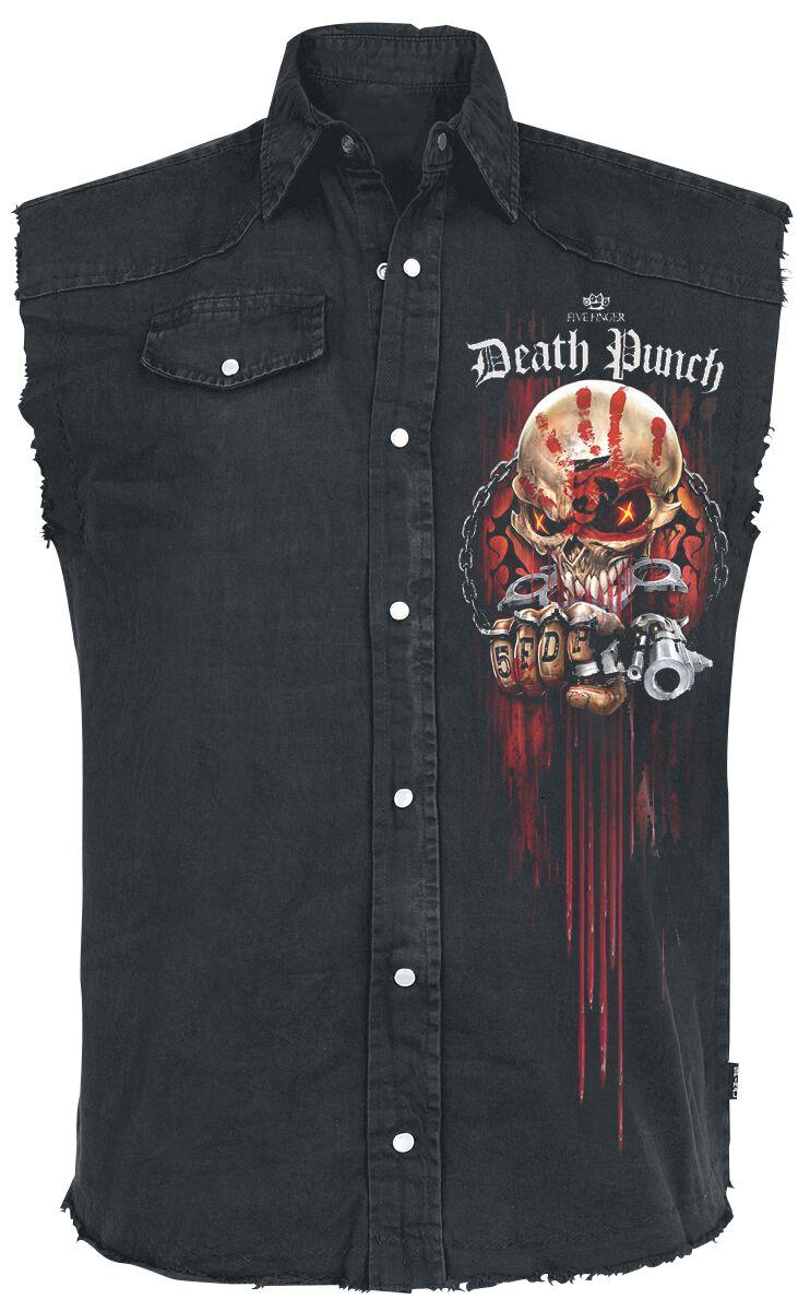 Image of   Five Finger Death Punch Assassin Ærmeløs arbejdsskjorte sort