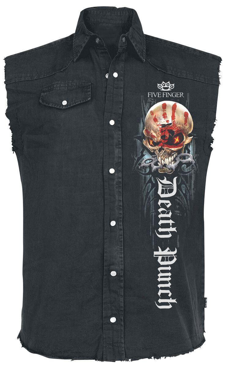 Image of   Five Finger Death Punch Game Over Ærmeløs arbejdsskjorte sort