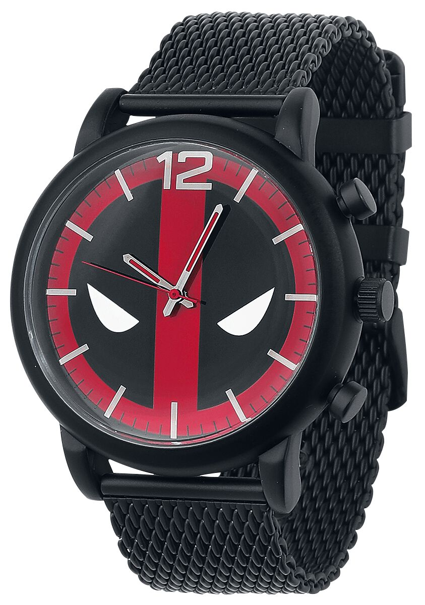 Image of   Deadpool Logo Armbåndsur sort-rød-hvid