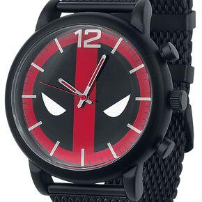 Deadpool Logo Montre bracelet noir/rouge/blanc