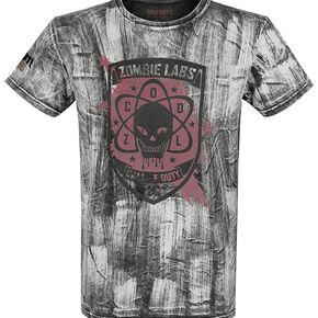 Call Of Duty Zombie Labs T-shirt gris