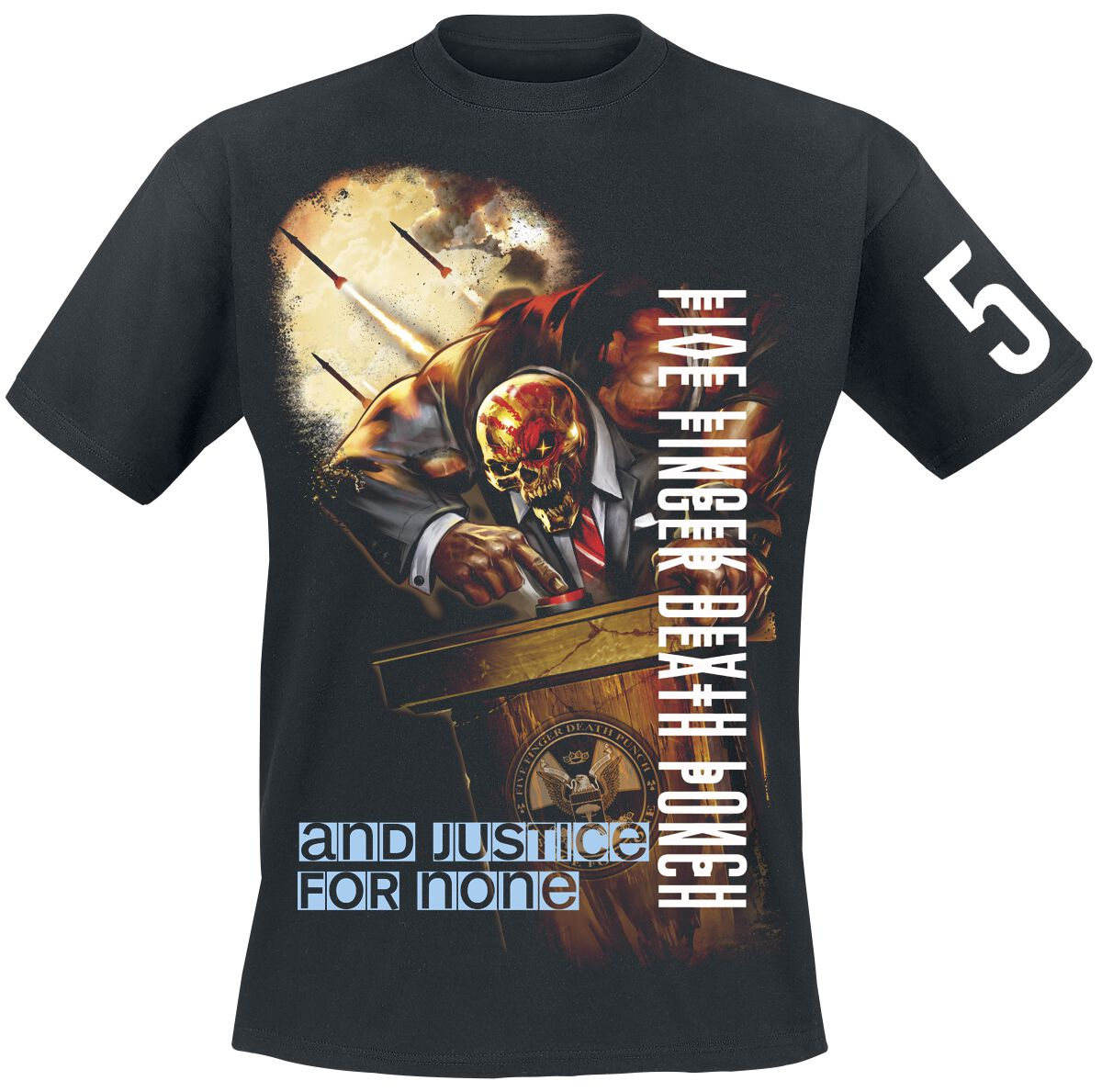 Image of   Five Finger Death Punch And justice for none T-Shirt sort