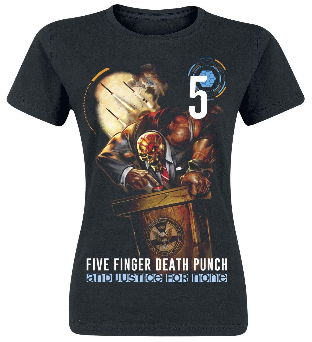 Image of   Five Finger Death Punch And justice for none Girlie trøje sort