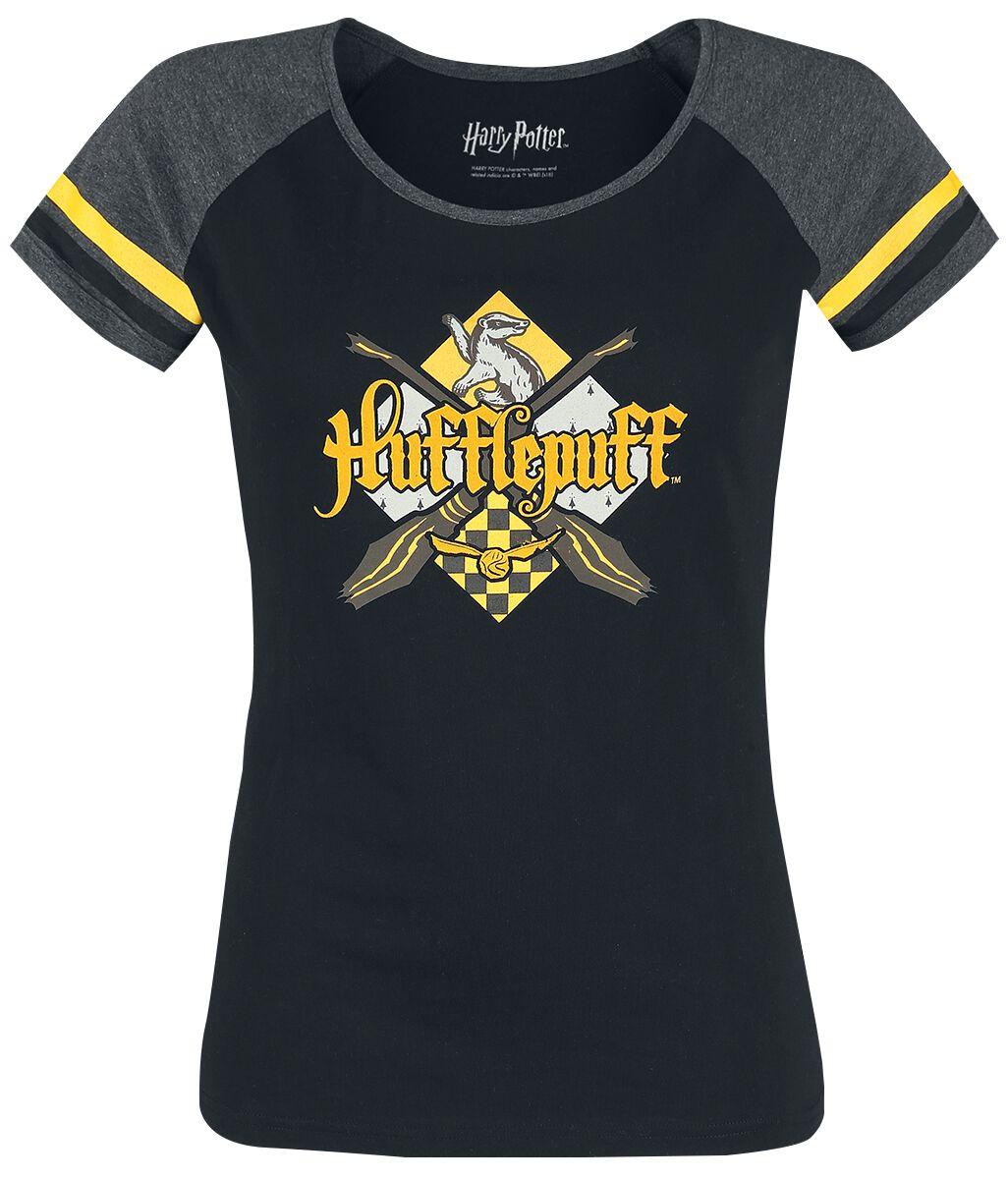 Harry Potter Hufflepuff Koszulka damska czarny/szary