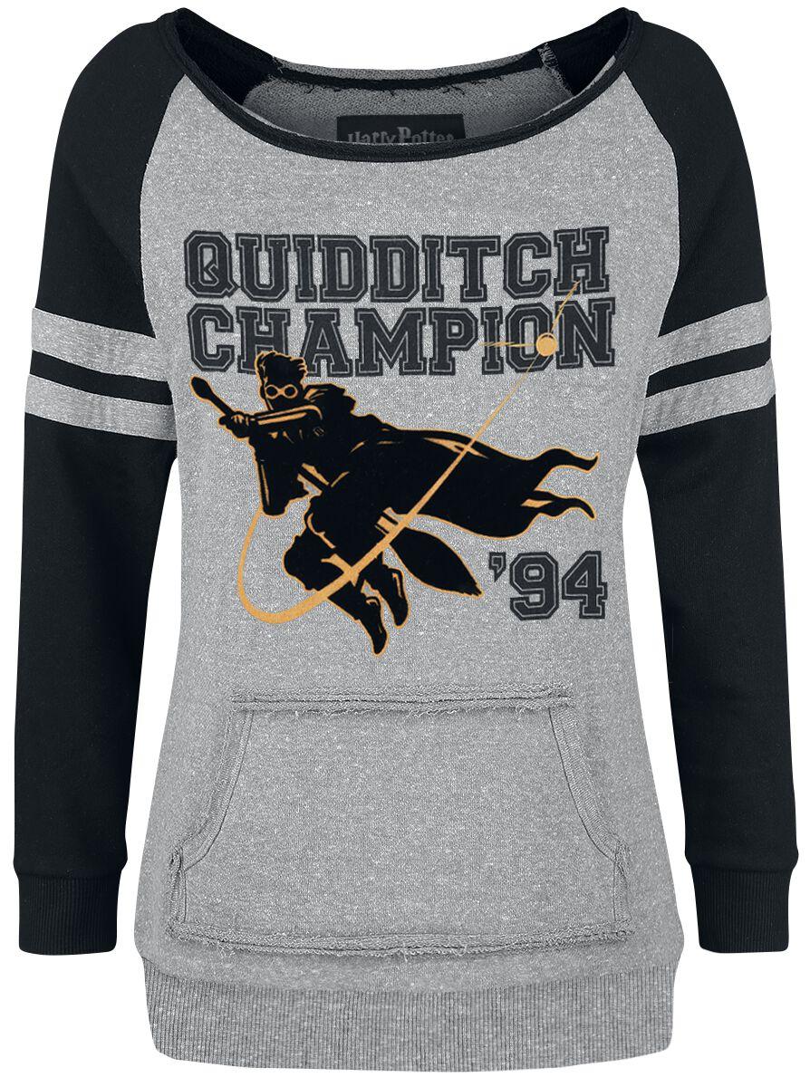Harry Potter Quidditch Champion Bluza damska szary/czarny